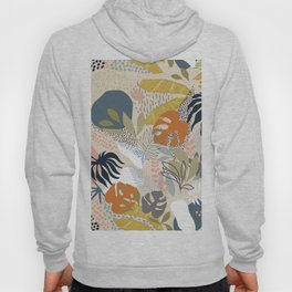 Tropical Foliage Pattern 1 - Retro Boho Hoody