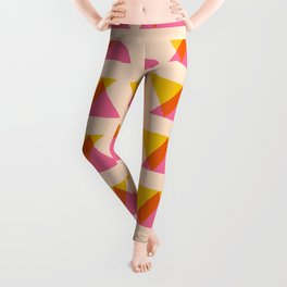 Warm Color Block and Blend  Leggings