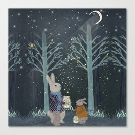 catching fireflies Canvas Print