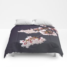 Cherry Blossoms (illustration) Comforters