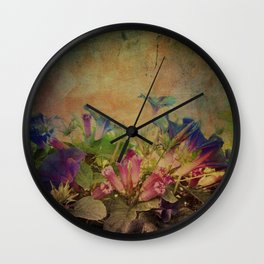 Flowers have music for those who will listen Wall Clock