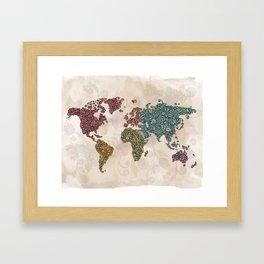 Paisley World Framed Art Print