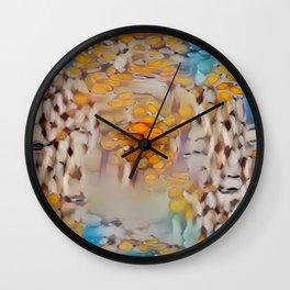 New Color Pyramidal Mandala 57 Wall Clock
