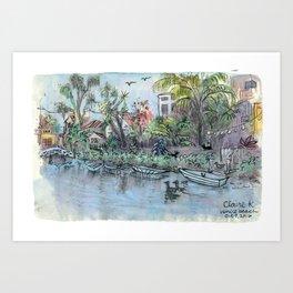 Venice Beach Canals Art Print