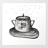 Malevich in sugar-bowl Art Print