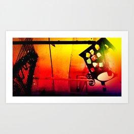 a light with GEM  Art Print
