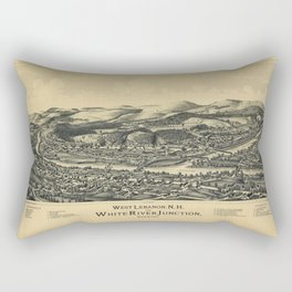 West Lebanon, New Hampshire and White River Junction, Vermont (1889) Rectangular Pillow