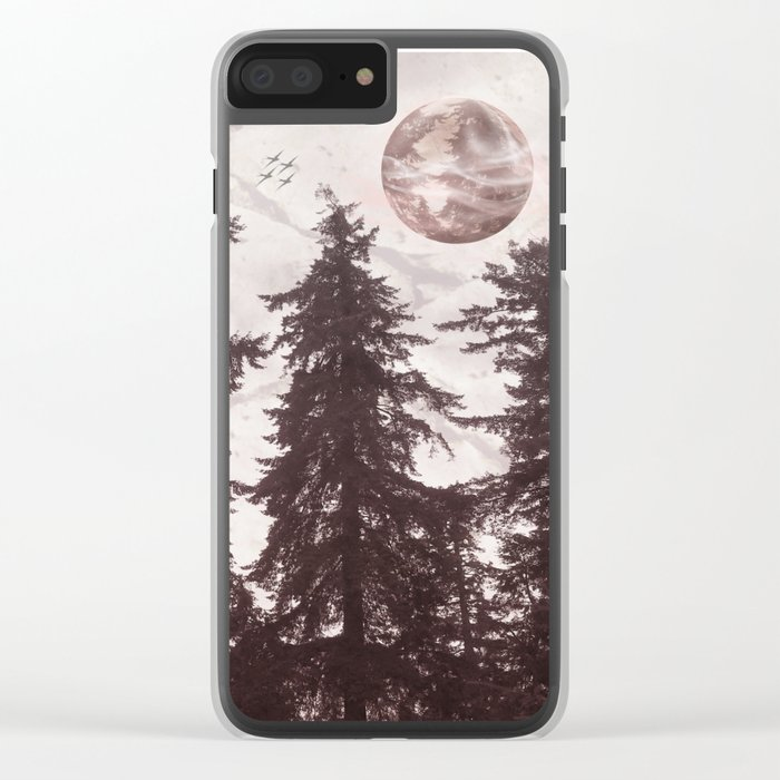 Woodland Echo Clear iPhone Case