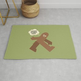 Bigfoot Has So Many Haters Rug