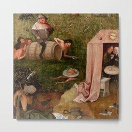 "Hieronymus Bosch ""Allegory of Gluttony"" Metal Print"