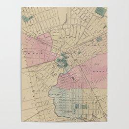 Vintage Map of Elizabeth New Jersey (1872) Poster