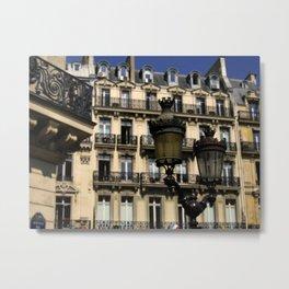 Parisian Lamp Posts Metal Print