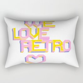 We Love Retro Rectangular Pillow