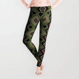 Boho embroidery 3 Leggings