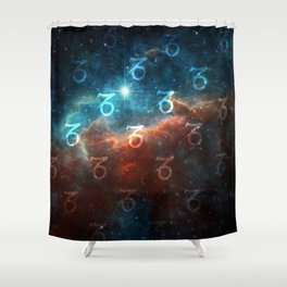 Capricorn Cosmos Shower Curtain