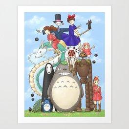 Ghibli mashup Art Print