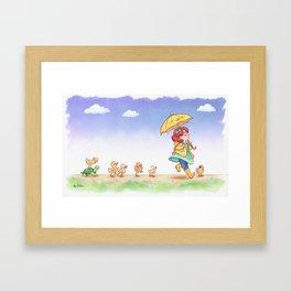 Duckling March Framed Art Print
