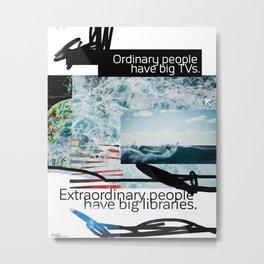 Ordinary - Extraordinary people scribble Metal Print