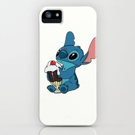 Stitch love ice cream iPhone Case