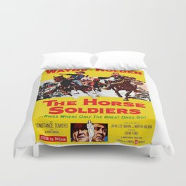 Vintage Movie Posters, The Horse Soldiers Duvet Cover