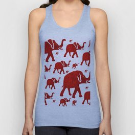 ELEPHANT Red #1 Unisex Tank Top