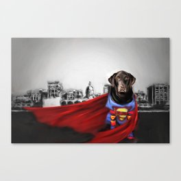 Dog of Steel in the City of Madison Canvas Print