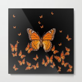 WORLD OF MONARCH BUTTERFLIES Metal Print