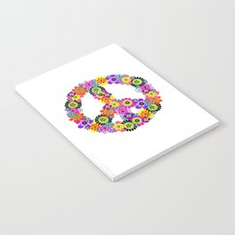 Peace Sign of Flowers Notebook