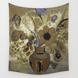 Etruscan Vase with Flowers - Odilon Redon Wall Tapestry