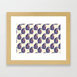 purple sloth eating pizza Framed Art Print