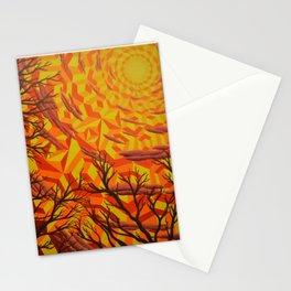 Sun Bathing Naked Trees Stationery Cards
