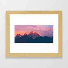 Sunset Hues Framed Art Print