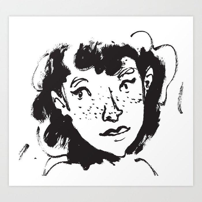 Ink Portrait Art Print