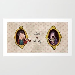 The Shining - Jack and Wendy Art Print