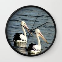 twins Wall Clocks featuring Twins by Chris' Landscape Images & Designs