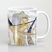 egyptian Mugs featuring Egyptian Musicians by Brian Raggatt