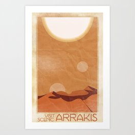 Visit Scenic Arrakis - Distressed Vintage Travel Poster Art Print