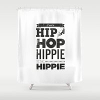 hip hop Shower Curtains featuring Hip Hop by Leeroy
