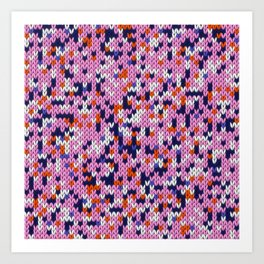 Knitted multicolor pattern 5 Art Print