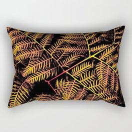 Peachy Yellow Bracken Rectangular Pillow