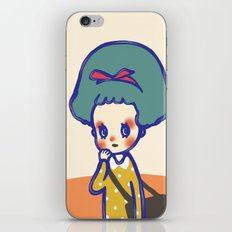 Thinking girl  iPhone & iPod Skin