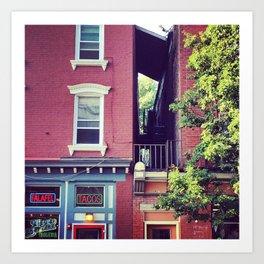 Tacos on Main Street - Beacon NY Art Print