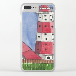 Coastal Tower Clear iPhone Case