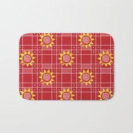 Red Hot Sunny Days Bath Mat