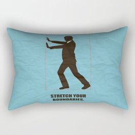 Lab No.4 -Stretch Your Boundaries Life Inspirational Quotes poster Rectangular Pillow