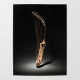 Historical Egyptian Arched Harp Photograph (1295 BC) Poster