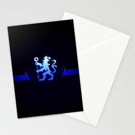 football team with its oversized color blue Stationery Cards