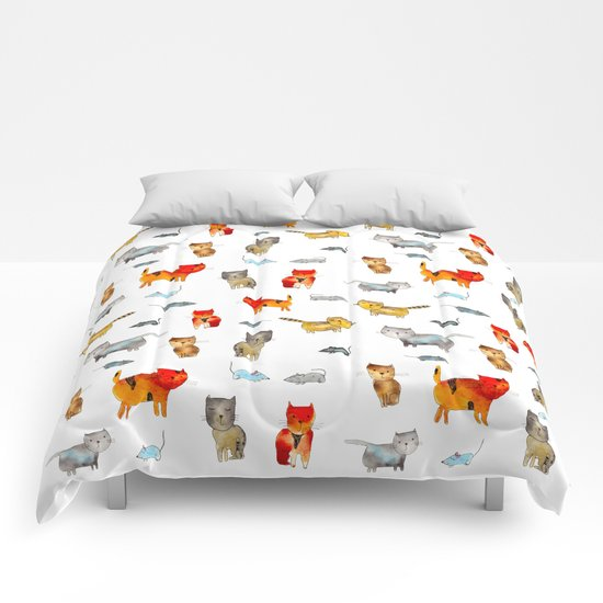 'Cat and mouse' pattern Comforters