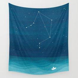 Libra zodiac constellation Wall Tapestry