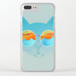 Chill Cat Clear iPhone Case